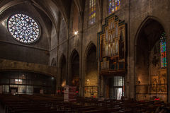 Kyrka av Santa Maria del Pi barcelona spain Royaltyfri Foto