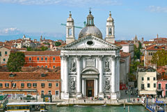 Kyrka av Santa Maria del Rosario (Gesuati), Venedig italy Arkivbilder