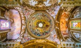 Kyrka av Santa Maria della Vittoria i Rome, Italien royaltyfri foto