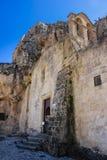 Kyrka av Santa Maria di Idris Matera Basilicata Apulia eller Puglia italy royaltyfri bild