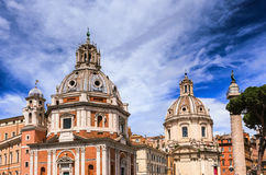 Kyrka av Santa Maria di Loreta i Rome Royaltyfri Fotografi