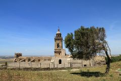 Kyrka av Santa Maria i Medina Sidonia, Spanien arkivbilder