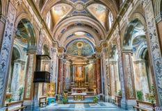 Kyrka av Santa Maria i Monticelli, i rionen Regola i Rome, Italien royaltyfri foto