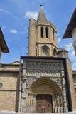 Kyrka av Santa Maria la Real, Sanguesa, Arkivbilder