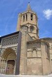 Kyrka av Santa Maria la Real, Sanguesa, Fotografering för Bildbyråer