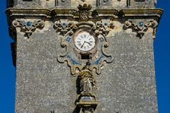 Kyrka av Santa Maria av uppstigningen Iglesia de Santa Maria de la Asuncion Arkivfoto