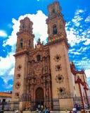 Kyrka av Santa Prisca i Guerrero, Mexico arkivbild