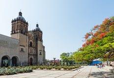 Kyrka av Santo Domingo de Guzman i Oaxaca, Mexico arkivfoton