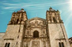 Kyrka av Santo Domingo de guzman Oaxaca Mexico arkivfoton