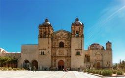 Kyrka av Santo Domingo de guzman Oaxaca Mexico royaltyfri foto
