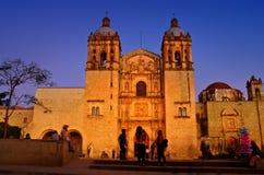 Kyrka av Santo Domingo de guzman Oaxaca Mexico royaltyfria bilder