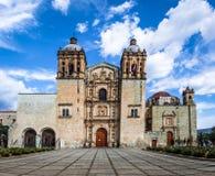 Kyrka av Santo Domingo de Guzman - Oaxaca, Mexico Arkivbilder