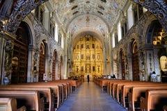 Kyrka av Santo Domingo, Oaxaca fotografering för bildbyråer