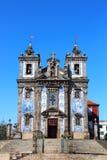 Kyrka av Santo Ildefonso, Porto, Portugal Arkivfoton