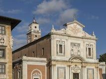 Kyrka av Santo Stefano Knights i piazzadeien Cavalieri, Pisa Royaltyfri Fotografi