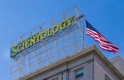 Kyrka av scientologyen i Hollywood, Kalifornien Royaltyfri Bild
