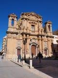 Kyrka av skärseld, marsala, Sicilien, Italien Arkivbilder