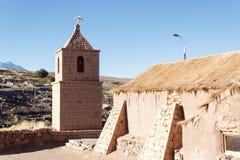 Kyrka av Socaire Arkivbilder