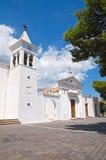 Kyrka av SS. Maria della Luce. Mattinata. Puglia. Italien. Arkivfoto