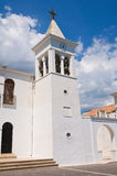 Kyrka av SS. Maria della Luce. Mattinata. Puglia. Italien. Royaltyfri Fotografi