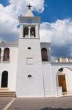Kyrka av SS. Maria della Luce. Mattinata. Puglia. Italien. Royaltyfria Foton