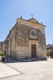Kyrka av SS. Medici. Martano. Puglia. Italien. arkivfoton