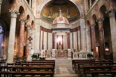 Kyrka av St Agnes i Rome Arkivbild