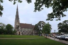 Kyrka av St Alban, Köpenhamn Arkivfoto