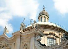 Kyrka av St. Alexander av Bergamo i Zebedia, kupol, Milan, Ital Royaltyfria Bilder