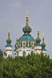 Kyrka av St Andrew i Kiev ukraine Royaltyfri Bild