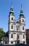 Kyrka av St Anne Budapest Hungary Arkivbild