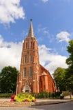 Kyrka av St Anne i den LiepÄ jaen, Lettland arkivbilder