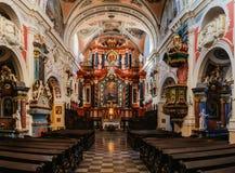 Kyrka av St Anthony Franciscan i Poznan, Polen arkivbild