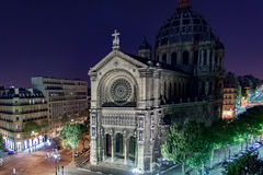 Kyrka av St Augustine, Paris, Frankrike Arkivfoton