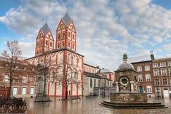 Kyrka av St Bartholomew i Liege Arkivfoto
