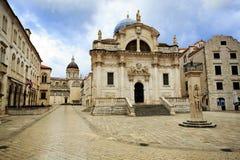 Kyrka av St Blaise på gryning Arkivbild