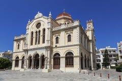 Kyrka av St Catherine av Sinai - ortodox kyrka i Heraklion, Kreta Royaltyfri Bild