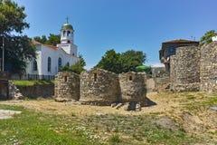 Kyrka av St Cyril och St Methodius, Sozopol stad arkivbilder