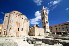 Kyrka av St Donat Zadar Arkivfoto