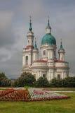 Kyrka av St Ekaterina i Kingisepp, Ryssland Arkivbild