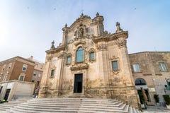 Kyrka av St Francesco Matera Basilicata italy Royaltyfria Foton