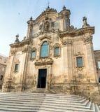 Kyrka av St Francesco Matera Basilicata italy Royaltyfria Bilder