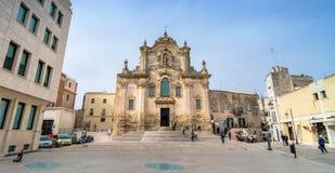 Kyrka av St Francesco Matera Basilicata italy Arkivfoto