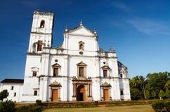 Kyrka av St Francis av Assisi i gamla Goa, Indien Velha Goa är a Arkivbilder