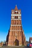 Kyrka av St George (Kirche Friedland) - som är gotisk av det 14th århundradet. Pravdinsk (Friedland), Ryssland Fotografering för Bildbyråer
