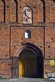 Kyrka av St George (Kirche Friedland). Stad Pravdinsk (till Friedland 1946), Kaliningrad oblast, Ryssland royaltyfria bilder