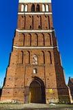 Kyrka av St George (Kirche Friedland). Stad Pravdinsk (till Friedland 1946), Kaliningrad oblast, Ryssland royaltyfri foto