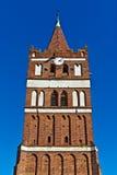 Kyrka av St George (Kirche Friedland). Stad Pravdinsk (till Friedland 1946), Kaliningrad oblast, Ryssland Arkivbild
