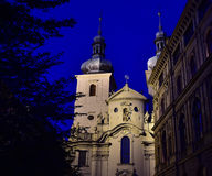 Kyrka av St Havel - Prague Arkivfoton