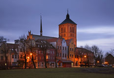 Kyrka av St-helgonet Catherine av Alexandria i Braniewo poland Royaltyfria Foton
